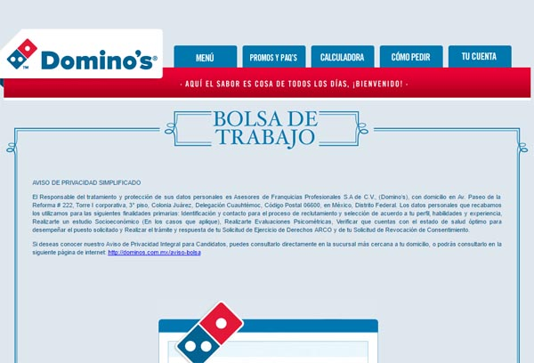 ▷ Enviar Curriculum a Domino´s Pizza | Enviar Curriculum