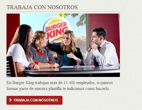 información actualizzada sobre todas las ofertas de trabajo de los restaurantes Burger King en España