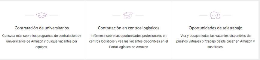 seccion amazon ofertas de empleo: universitarios, centros logisticos y teletrabajo en amazon