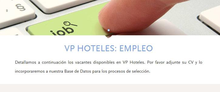 enviar curriculum hoteles vp madrid por internet